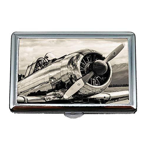 Visite Combattant boîte Cigarettes Avion De Photos Rue cartes Étui Case22 En Gratuit Stockage Militaire Porte Cosplay Acier Inoxydable xAnHOH0zw