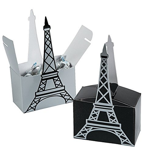 Eiffel Tower Favor Boxes (12 Pack)