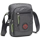 Nicgid Crossbody Shoulder Bag Small Lightweight Satchel Bag Fits Ipad For Travel Work(Black)