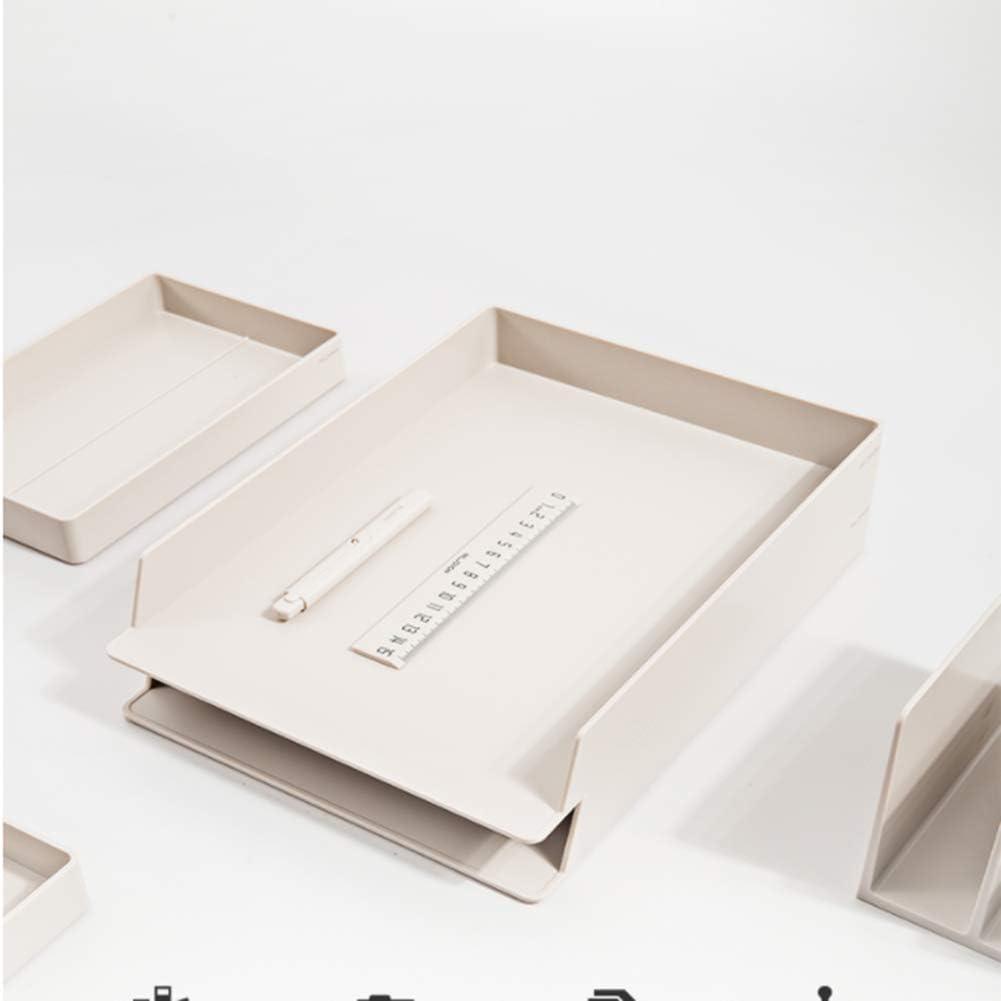 Carta bandejas,Azul apilable 2 Oficina de Nivel presentaci/ón Bandejas de Documentos A4 tur/ística Riser Carta de Papel del Organizador del almacenaje WJYLM Revista de Almacenamiento en Rack