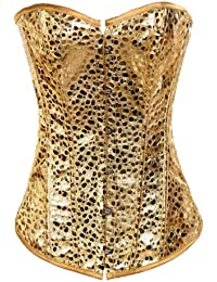 Strapless Gold Fashion Beaded Overbust Corset, Valentine's Gift Idea