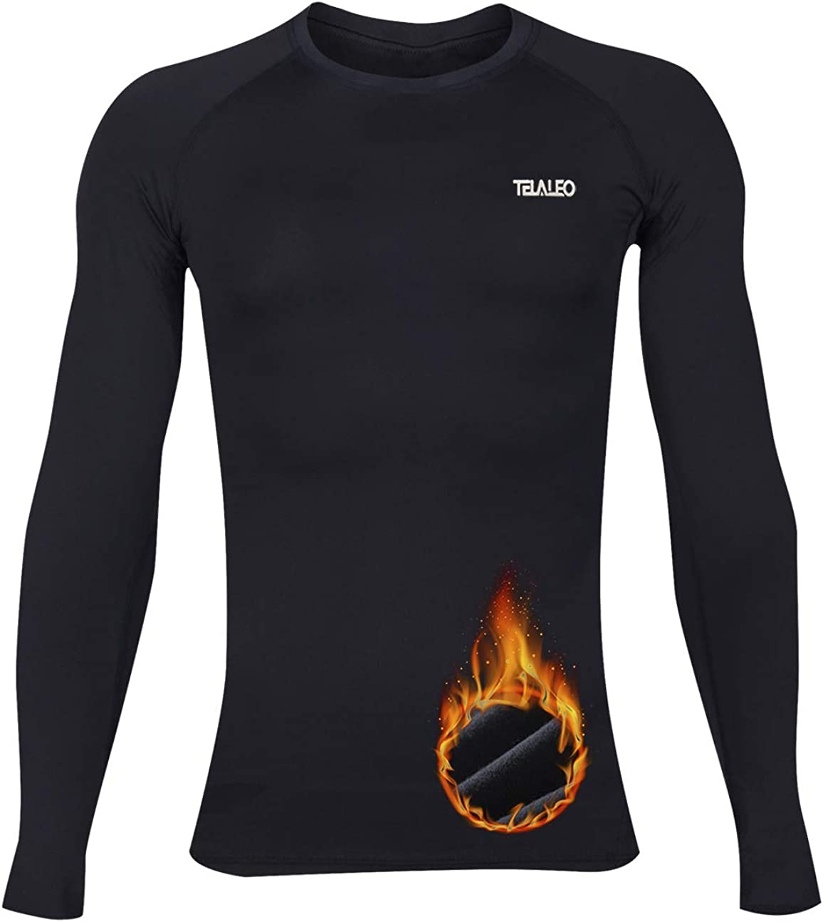TELALEO Youth Boys' Girls' Thermal Compression Shirt Long Sleeve Fleece Lined Base Layer Athletic Football Undershirt