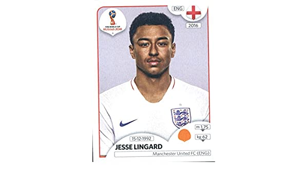 3be50a19b Amazon.com  2018 Panini World Cup Stickers Russia  587 Jesse Lingard  England Soccer Sticker  Collectibles   Fine Art