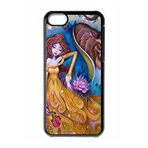 iPhone 5c funda Negro [KHOAOKOFJ5454] CUSTOM la belleza y la bestia TEMA iPhone 5c funda