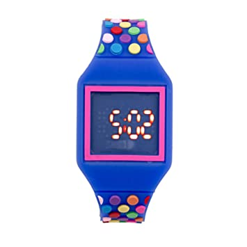 Fun Gifts Children Digital Led Silicone Watch Kids Cartoon Soft Slim Watches