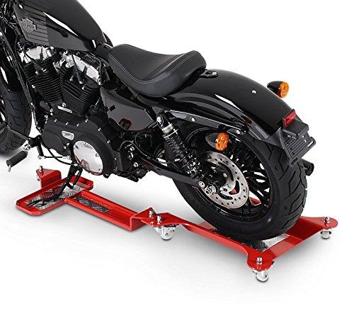 Motorrad Rangierschiene Suzuki Intruder VS 1400 Rot Rangierwagen Rangierhilfe Seitenst/änder Hinterrad ConStands Motomover II