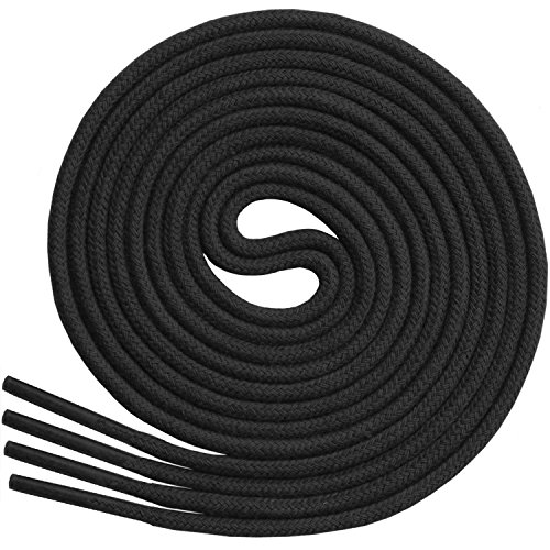 """Thin Round Dress Shoelaces [3 Pairs] 3/32"""" Thick - Premium Quality - By Miscly (24"""", Black)"""
