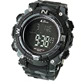 [LAD WEATHER] Solar digital watch Military Camouflage printed 100 meter water resistant