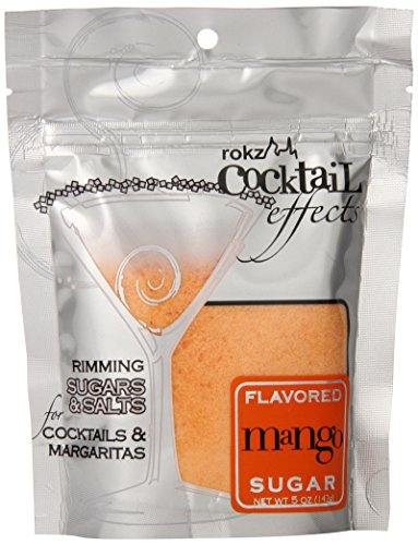 Rokz Design Group Cocktail Sugar, Mango, 5 Ounce