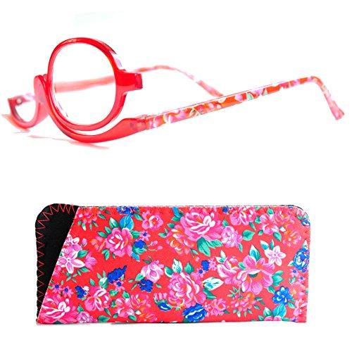 Make Up Schminkbrille mit Etui von Mini Brille (+2,5, Rot)