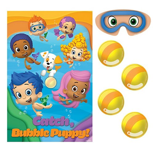 Amscan Aqua Awesome Bubble Guppies Party Game Activity Set, Paper, 37