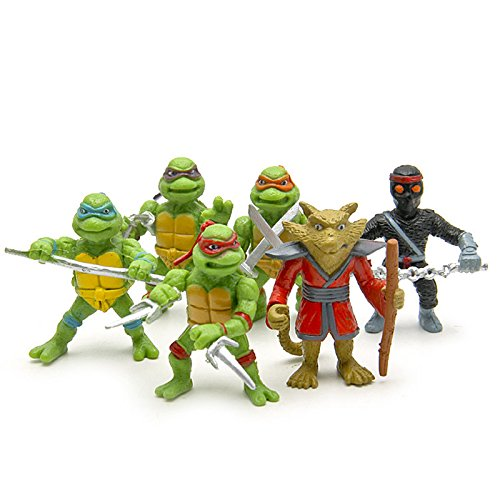 6pcs/lot Teenage Mutant Ninja Turtles TMNT Mini Figures Action Figures Toy Juguetes 1998 Set Classic Toys Kids Christmas Gift 02 (Steve And Dc Halloween)