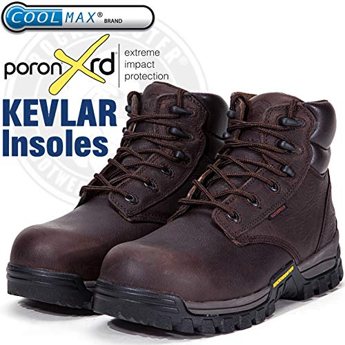 bc1263b9ec1 ROCKROOSTER Work Boots for Men, Composite Toe, Arch Support, Kevlar ...