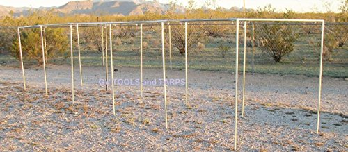 Golden Valley Tools & Tarps 50' BASEBALL/SOFTBALL STRAIGHT LEG BATTING CAGE 3/4'' FITTINGS ONLY by Golden Valley Tools & Tarps