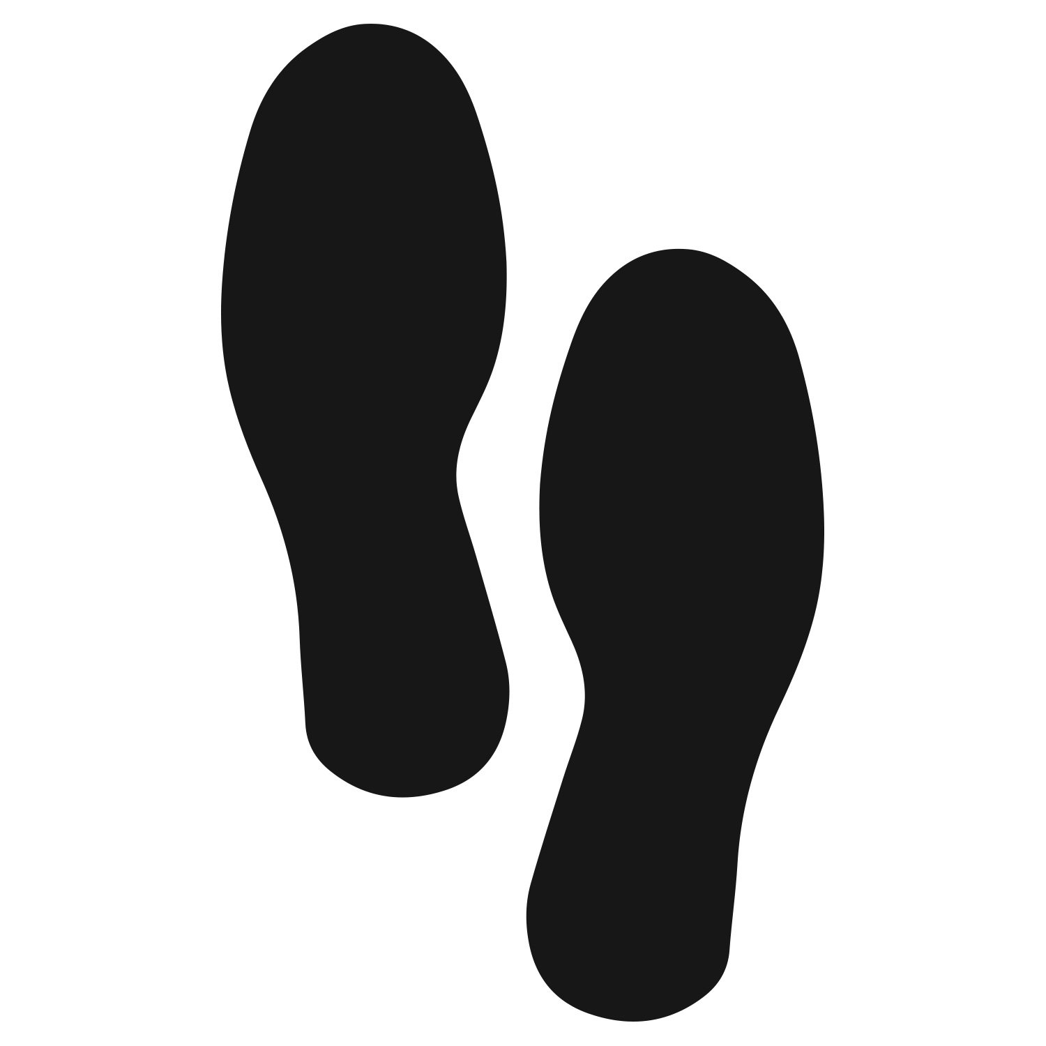 ifloortape Black Footprints | Industrial Premium Quality | Safety Aisle Visibility Markers (5 Pairs) 9.5 Inch