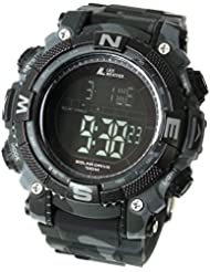 [LAD WEATHER] Solar digital watch Military Camouflage printed 100 meter water resistant
