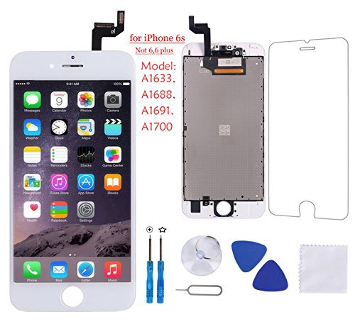 Full Assembly for iPhone 5C Screen Replacement Black LCD Digitizer Display Touch with Front Camera+Facing Proximity Sensor+Ear Speaker+Repair Tools and Screen Protector Coobetter