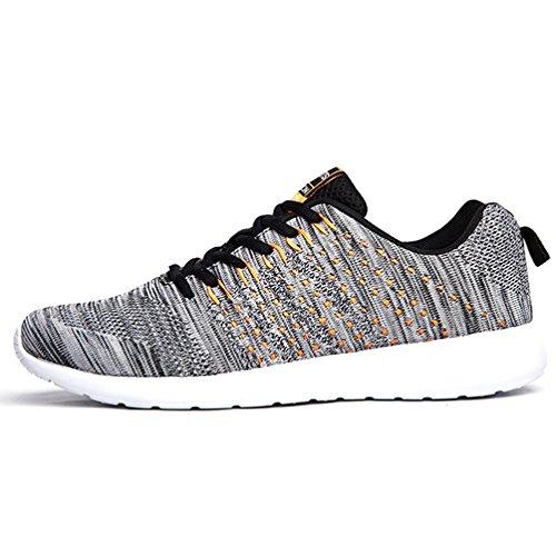 all'aperto Respirabile Corsa a Uomo da Donna Mesh da Sneakers Scarpe Grigio Sneakers Ginnastica AFFINEST Scarpe YpwSPxq