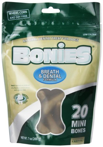 - Pet Health Solutions BONIES Natural Dental Bones Multi-Pack MINI (20 Bones/7 oz)