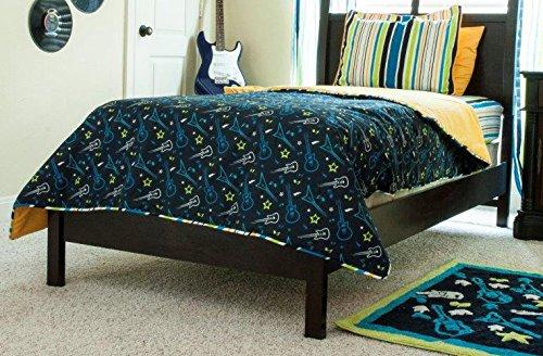 Pam Grace Creations Rockstar Bedding Set, Full/Queen - Guitar Baby Bedding