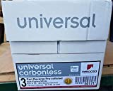 8.5 x 11 Nekoosa Universal Carbonless Paper, 3 Part Reverse (Bright White/Canary/Pink), 1670 Sets, 5010 Sheets, 10 Reams
