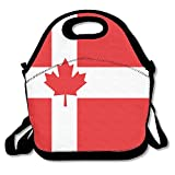 Flag Canada Norwegian Lunch Bags Lunch Tote Lunch Box Handbag For Kids And Adults
