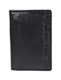 Buffalo David Bitton Wade Bifold Card Case with ID Wing, Black, International Carry-on