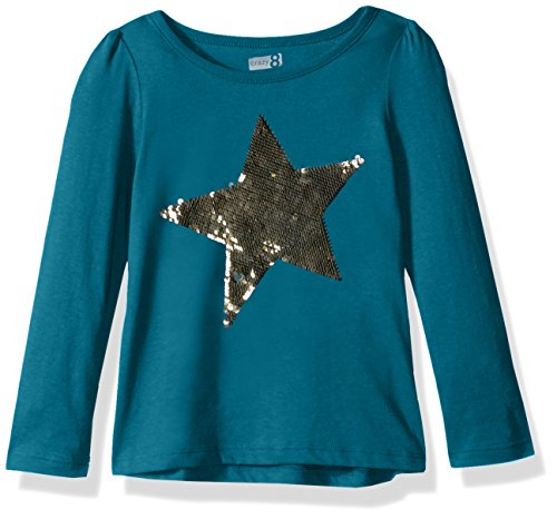 d834cce69 Crazy 8 Girls' Little Long Sleeve Sparkle Graphic Tee - Buy Online in Oman.  | Apparel Products in Oman - See Prices, Reviews and Free Delivery in  Muscat, ...
