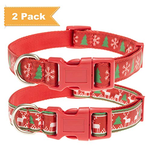 SCENEREAL Heavy Duty Dog Collars Quick Release Adjustable Outdoor Safety Collar for Small Medium Large Dogs 2 Pack, L