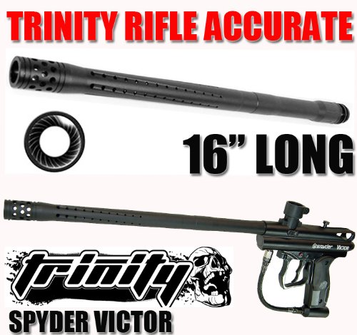 """Trinity Paintball Accurate Rifle Barrel for Spyder Victor Paintball Gun, Kingman Spyder Victor Paintball Gun 16"""" Long Barrel, Fast Shipping"""