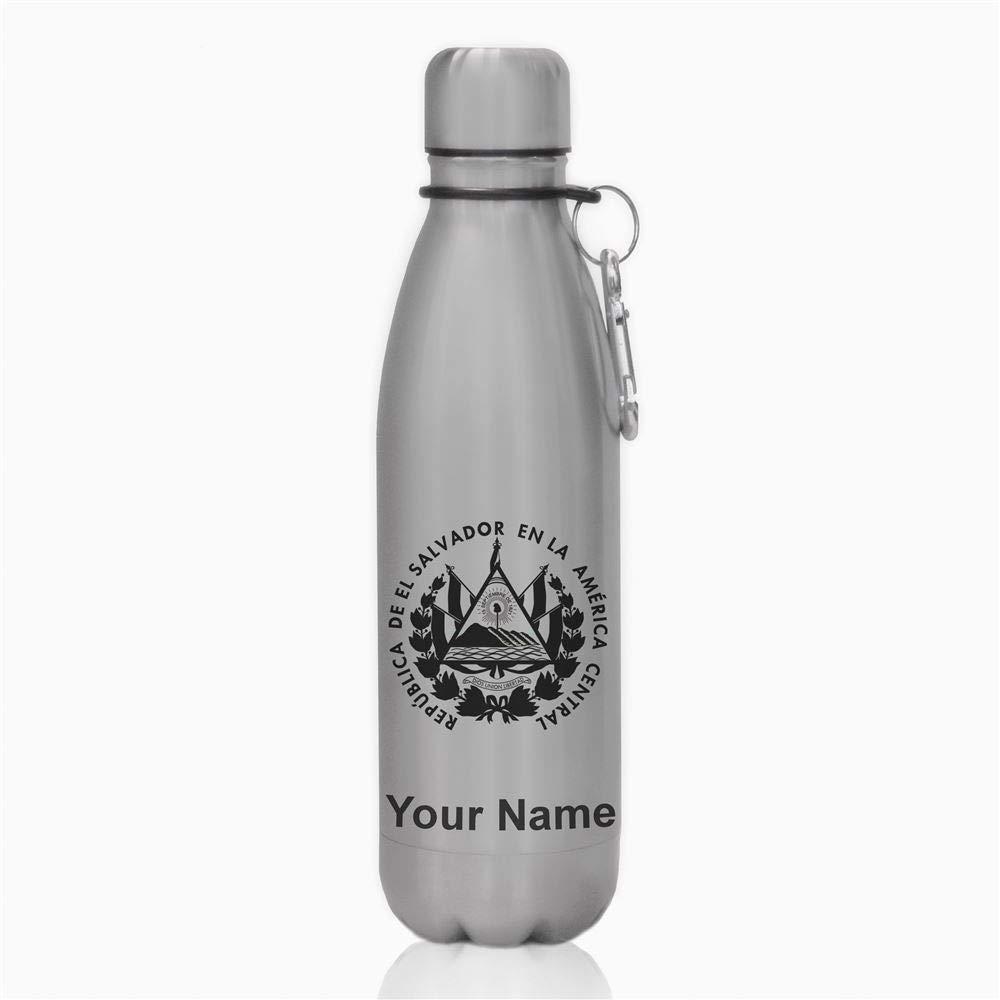 水ボトル – エルサルバドルの国旗 – カスタマイズ彫刻含ま B06X9D38KR