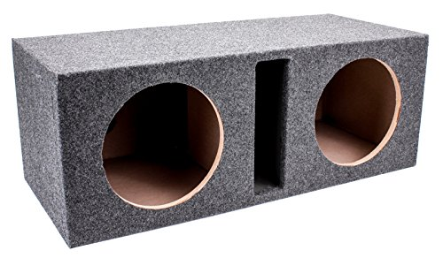 Q Power Dual 10-Inch Vented Unloaded - Unloaded Subwoofer Box