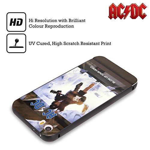 Officiel AC/DC ACDC Faites Sauter Votre Vidéo Couverture D'album Noir Étui Coque Aluminium Bumper Slider pour Apple iPhone 5 / 5s / SE