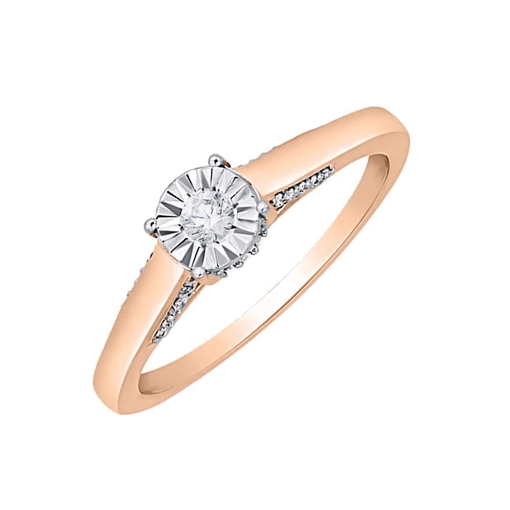Diamond Wedding Band in 10K White Gold Size-9.75 1//6 cttw, G-H,I2-I3