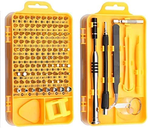ARTFFEL Great 110-in-1 Screwdriver Set 25-in-1 Precision Plum Electric Precision Screwdriver For Tablet PC Home Tool Set (color : Yellow) Strong (Color : Yellow) Yellow