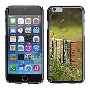 Hot Style Cell Phone PC Hard Case Cover // M00102957 grass photos books // Apple iPhone 6 4.7""