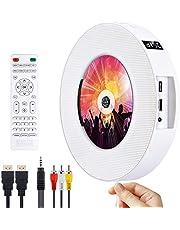 DVD/CD Bluetooth speler CD speler, draagbaar aan de muur te monteren CD/DVD speler, HDMI-compatibel ingebouwde HiFi luidsprekers