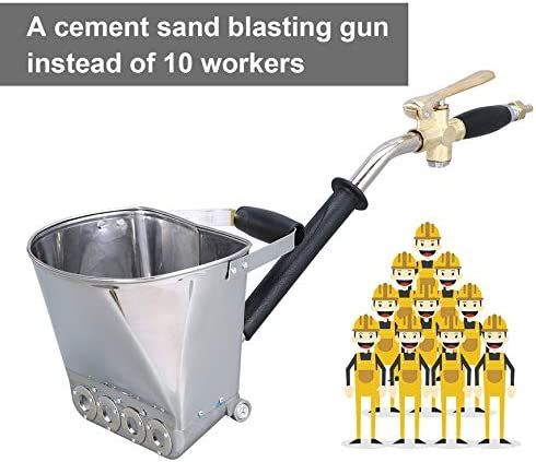 Pistola Pared Mortero Stucco Shovel Ladle Cement Plaster Hopper con Mango