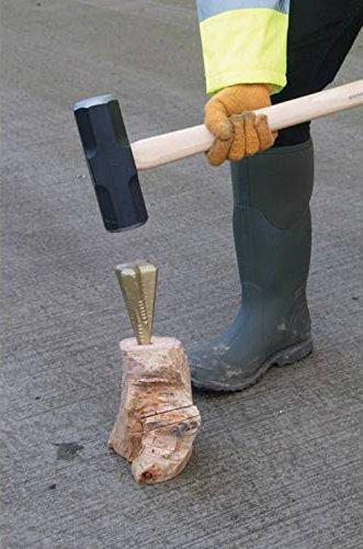 Garden Mile Schwerlast 1.5kg kg Holz Granate Holzspalter Diamantf/örmig 4 sided Holz Spaltkeil