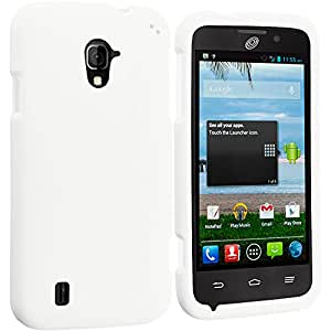 Accessory Planet(TM) White Hard Snap-On Matte Rubberized Case Cover Accessory for ZTE Majesty Z796C