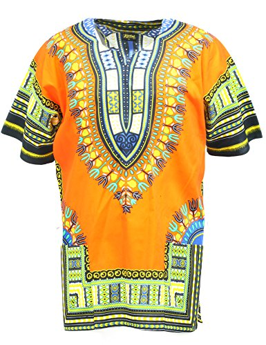 (KlubKool Dashiki Shirt Tribal African Caftan Boho Unisex Top Shirt)