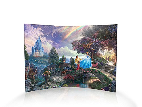 Thomas Kinkade Disney's Cinderella Wishes Upon a Dream Curved Acrylic Print