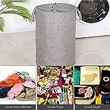 WDHome Mesh Pop-Up Laundry Hamper,Folding Cylinder