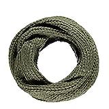 E.a@market Unisex Winter Knit Scarves Couples Fashion Neckerchief (Army green)