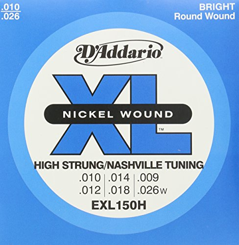 D'Addario EXL150H Nickel Wound Electric Guitar Strings, High-Strung/Nashville Tuning, - Store Nashville The