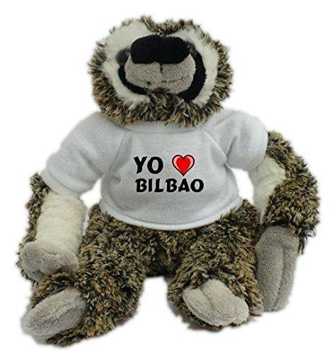 Bradypus de peluche con Amo Bilbao en la camiseta (ciudad ...