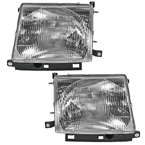 Headlamps Headlights Pair Set Left LH & Right RH for Toyota Tacoma Pickup Truck ()