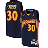 Stephen Curry #30 Golden State Warriors Adidas NBA Navy Throwback Adult Jersey (Large)