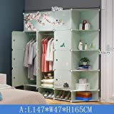 Ultra Time Empty Wardrobe Clothes Wardrobe Portable Clothes Closet Cupboard Bedroom Furniture by Freestanding Storage Organizer with Doors 12 Cube (Color : A)
