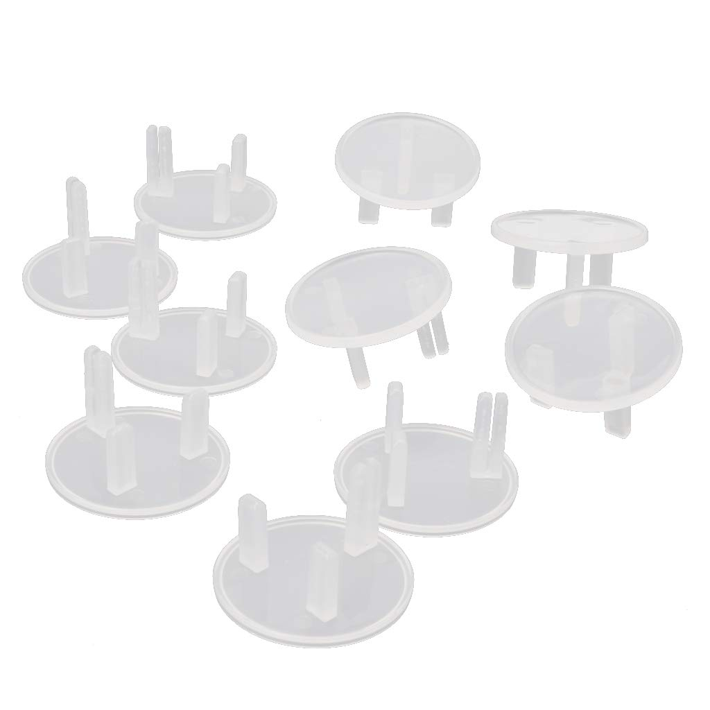 huiouer 10 Pcs UK Power Socket Cover Plugs Baby Electric Sockets Outlet Plug Kids Electrical Safety Protector Sockets Protection